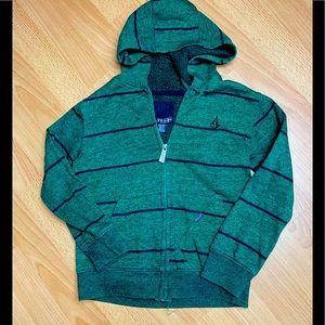 Volcom boys green zip hoodie M/5